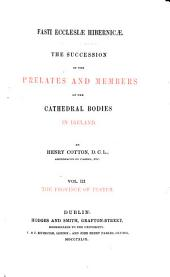 Fasti Ecclesiae Hibernicae: The Province of Ulster