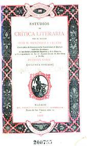 Estudios de crítica literaria: Volumen 1