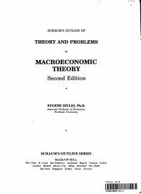 Schaum s Outline of Theory and Problems of Macroeconomic Theory