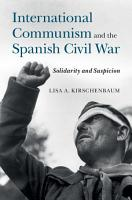 International Communism and the Spanish Civil War PDF