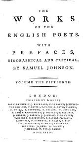 The Works of the English Poets: With Prefaces, Biographical and Critical, Volume 15