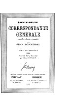 Download Correspondance G  n  rale Book