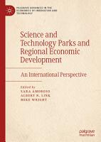 Science and Technology Parks and Regional Economic Development PDF