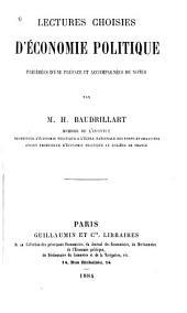 Lectures choisies d'économie politique