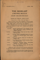 The Booklist of Revised Braille PDF