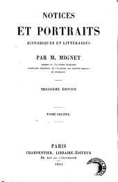 Notices et portraits historiques et littéraires