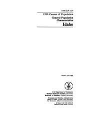 1990 Census of Population: General population characteristics. Idaho