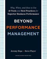 Beyond Performance Management PDF