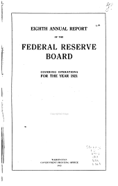 Annual Report of the Federal Reserve Board for the Period Ending December 31 ...: Volume 8