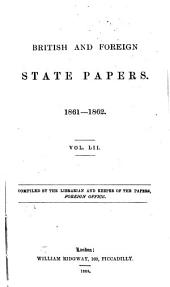 British and Foreign State Papers: Volume 52