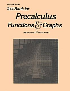 Test Bank for Precalculus Book