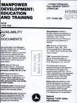 Manpower Development: Education and Training; [a Bibliography.].