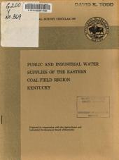 Public and Industrial Water Supplies of the Eastern Coal Field Region, Kentucky