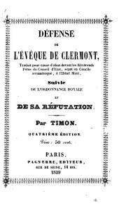 Défense de l'évêque de Clermont [Louis Charles Feron].