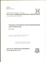 The Status of the World Gravity Standardization and First order Net PDF
