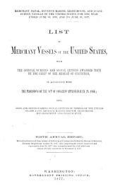 List of Merchant Vessels of the United States, with the Official Numbers and Signal Letters Awarded to Them: Volume 9, Parts 1876-1877