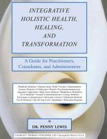 INTEGRATIVE HOLISTIC HEALTH  HEALING  AND TRANSFORMATION PDF