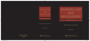 Banking Law and Regulation PDF