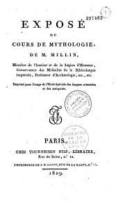 Exposé du cours de mythologie