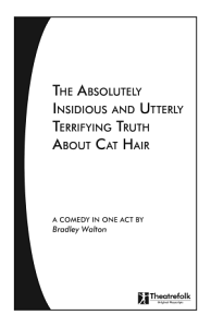 The Absolutely Insidious and Utterly Terrifying Truth about Cat Hair Book