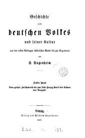 Geschichte des deutschen Volkes und seiner Kultur