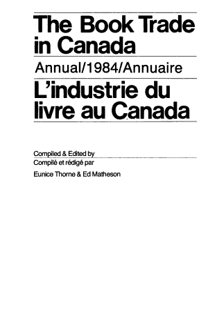 Book Trade in Canada PDF