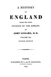 A History of England from the First Invasion by the Romans: Volume 12