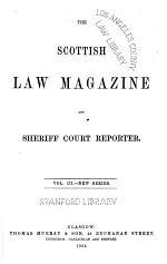 Scottish Law Magazine, and Sheriff Court Reporter