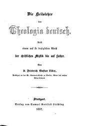 Die Heilslehre der Theologia deutsch