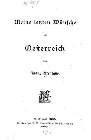 Meine letzten W  nsche f  r Oesterreich PDF