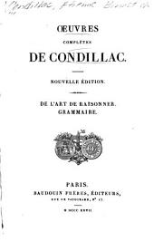 Oeuvres completes de Condillac: Volume 6