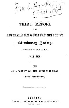 The Report of the Australasian Wesleyan Methodist Missionary Society for the Year Ending      with an Account of the Contributions Received for the Year     PDF