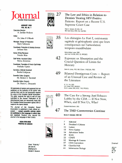 Journal de L Association Dentaire Canadienne PDF