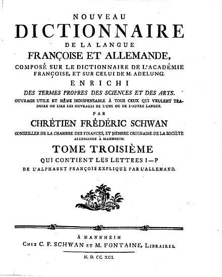 Nouveau dictionnaire de la langue fran  oise et allemande PDF