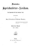 Deutsches Sprichw  rter Lexikon PDF