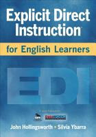 Explicit Direct Instruction for English Learners PDF