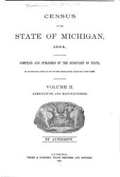 Census and Statistics of the State of Michigan ...: Volume 2