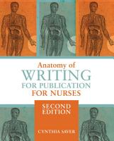 Anatomy of Writing for Publication for Nurses  Second Edition PDF