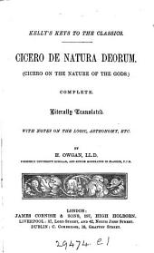 Cicero. De natura deorum, tr., with notes by H. Owgan