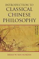 Introduction to Classical Chinese Philosophy PDF