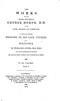 The Works of the Right Reverend George Horne     PDF