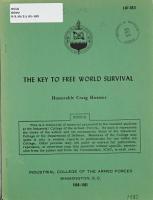 THE KEY TO FREE WORLD SURVIVAL PDF