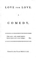 Love for Love  a Comedy  The Way of the World  a Comedy PDF