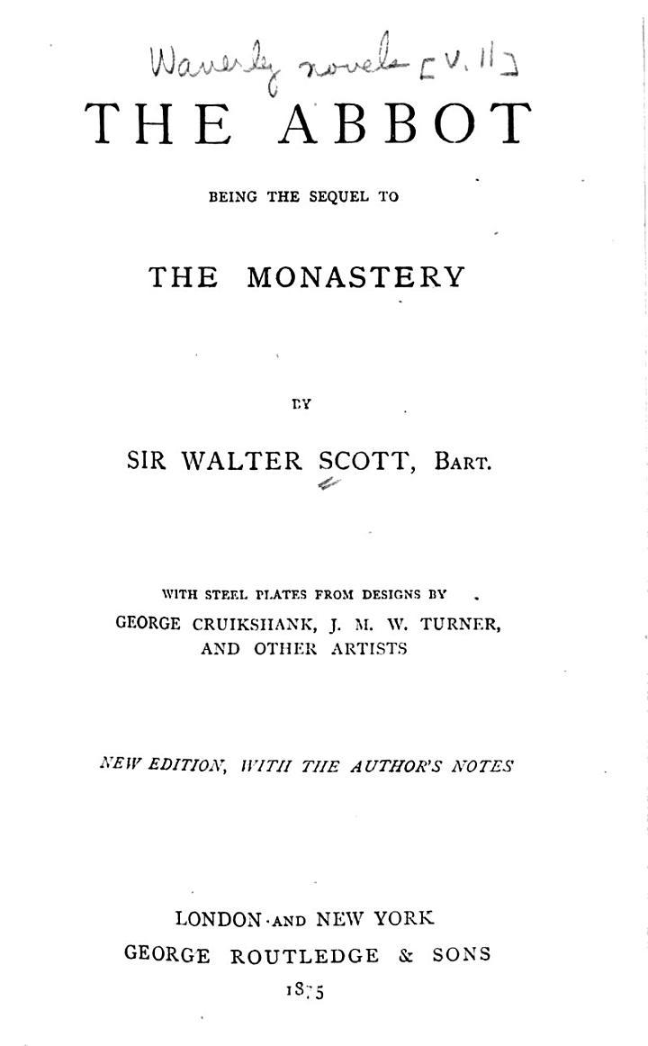 Waverley Novels: The abbot
