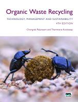 Organic Waste Recycling  Technology  Management and Sustainability PDF