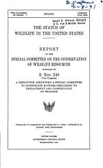 The Status of Wildlife in the United States