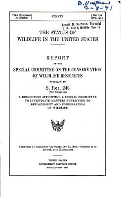 The Status of Wildlife in the United States PDF