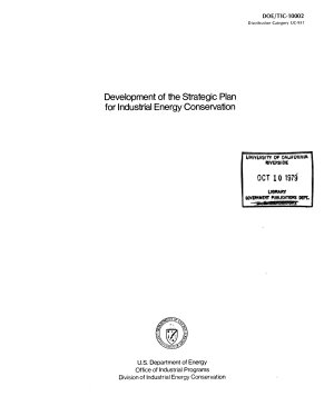 Development of the Strategic Plan for Industrial Energy Conservation