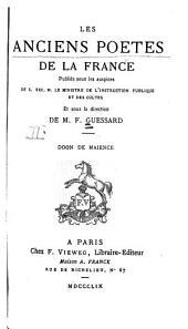 Les anciens poètes de la France: Volume2