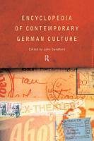 Encyclopedia of Contemporary German Culture PDF